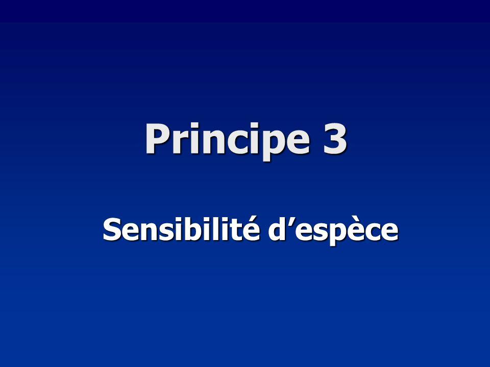 Principe 3 Sensibilité despèce