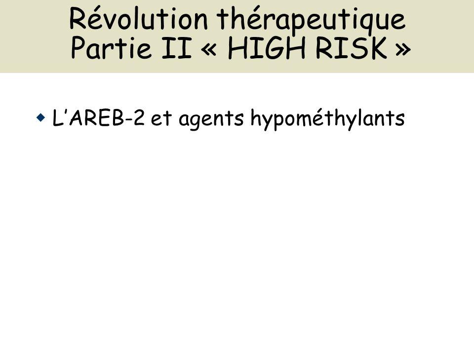 Révolution thérapeutique Partie II « HIGH RISK » LAREB-2 et agents hypométhylants