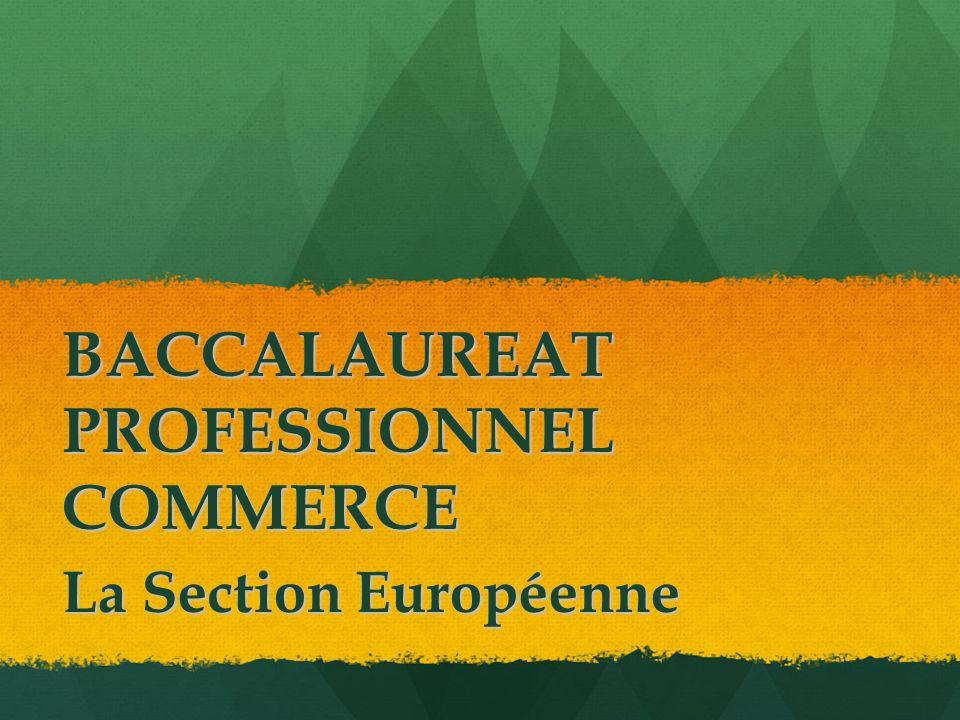 BACCALAUREAT PROFESSIONNEL COMMERCE La Section Européenne