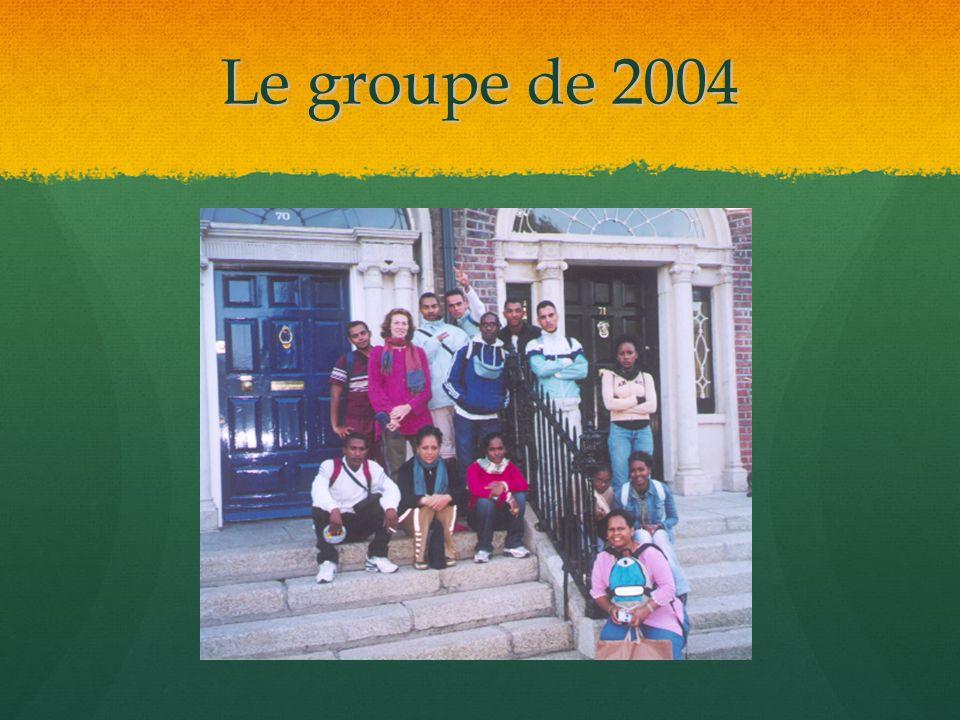 Le groupe de 2004