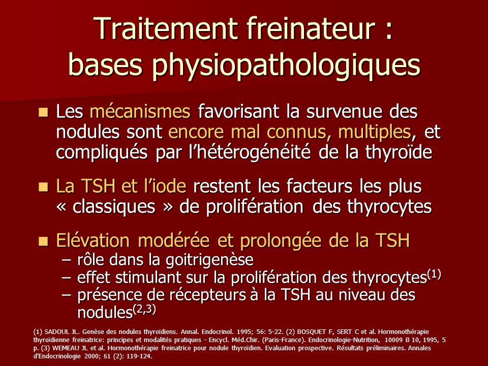 Traitement freinateur : bases physiopathologiques Les mécanismes favorisant la survenue des nodules sont encore mal connus, multiples, et compliqués p