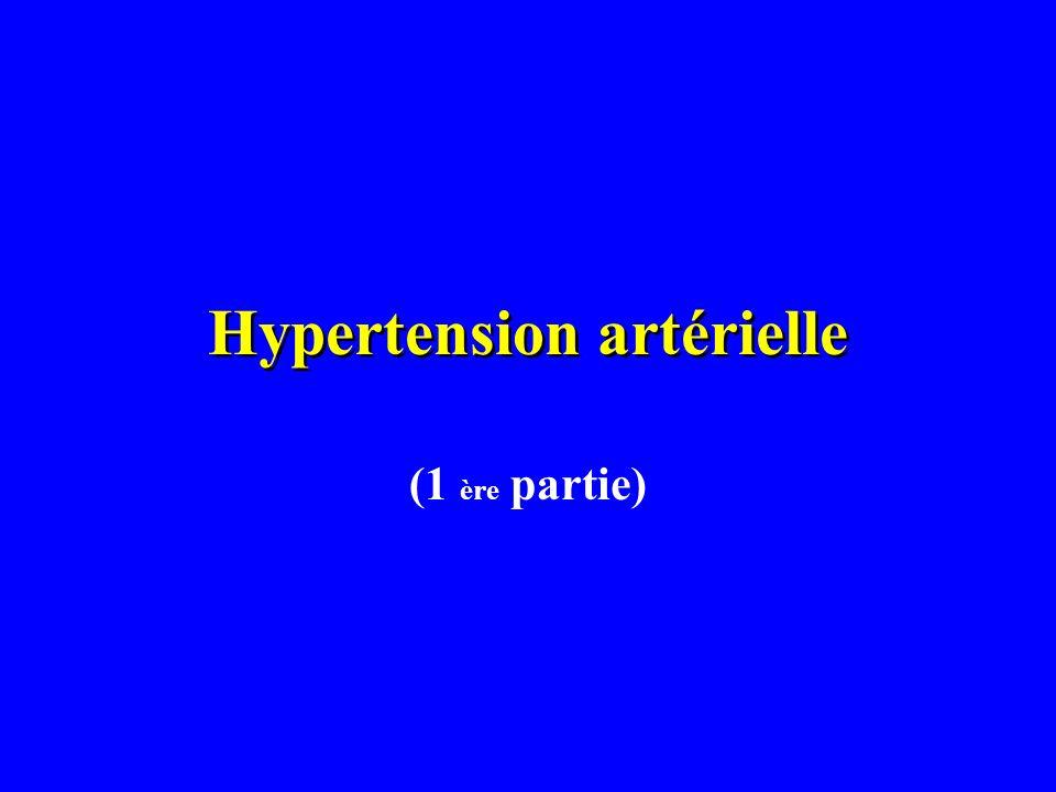 Hypertension artérielle (1 ère partie)