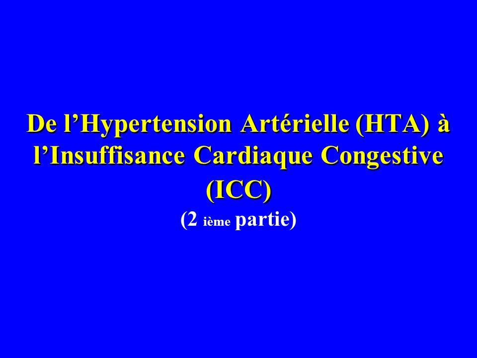 De lHypertension Artérielle (HTA) à lInsuffisance Cardiaque Congestive (ICC) (2 ième partie)