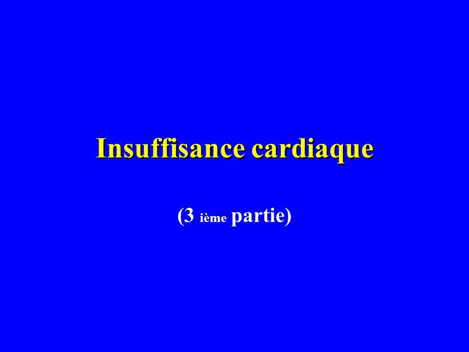 Insuffisance cardiaque (3 ième partie)