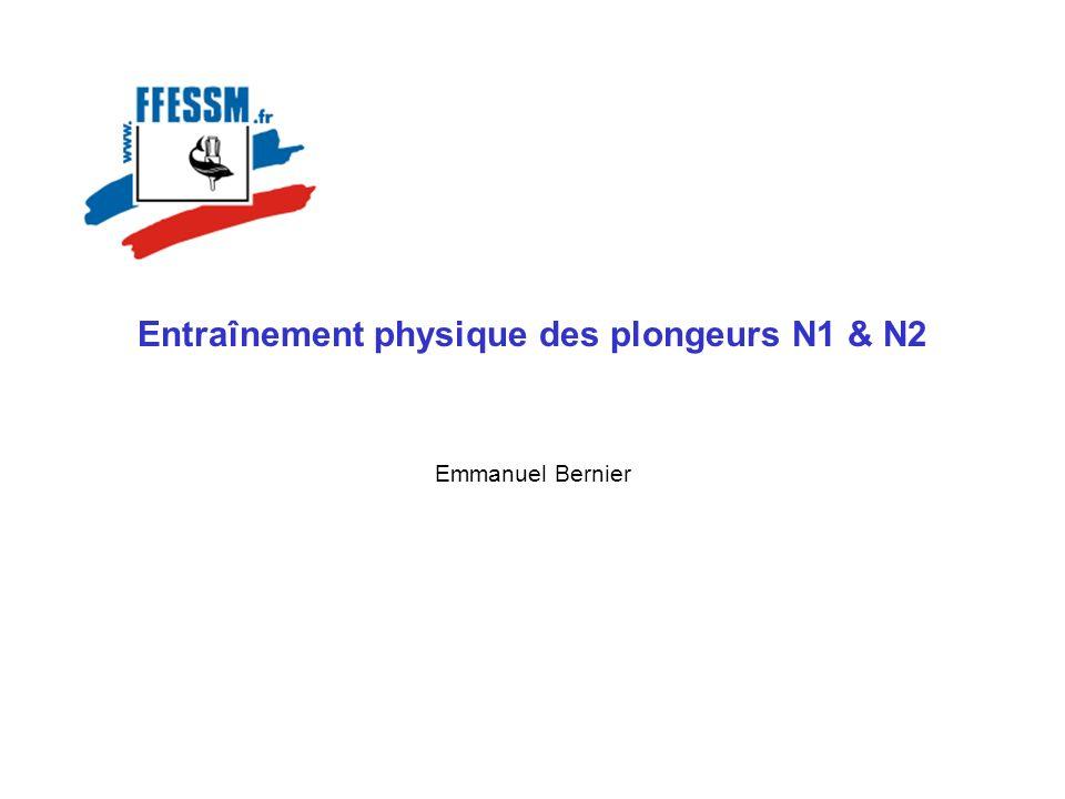 Entraînement physique des plongeurs N1 & N2 Emmanuel Bernier