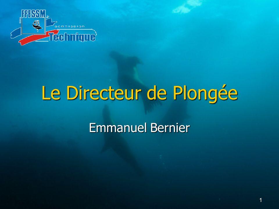 1 Le Directeur de Plongée Emmanuel Bernier