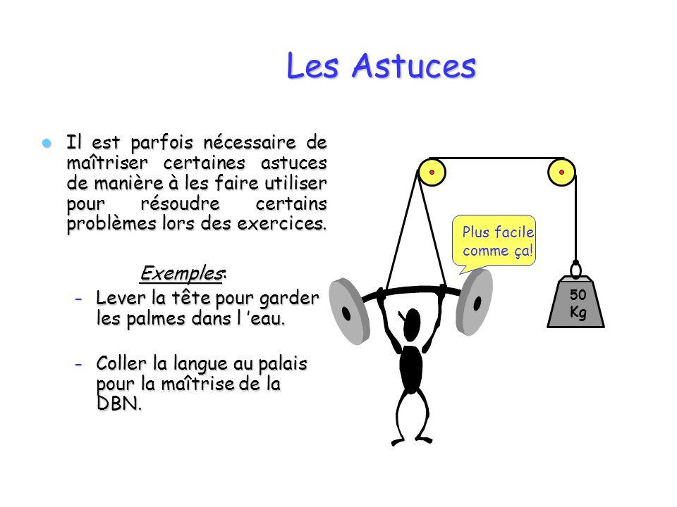 Les Astuces Il est parfois nécessaire de maîtriser certaines astuces de manière à les faire utiliser pour résoudre certains problèmes lors des exercic