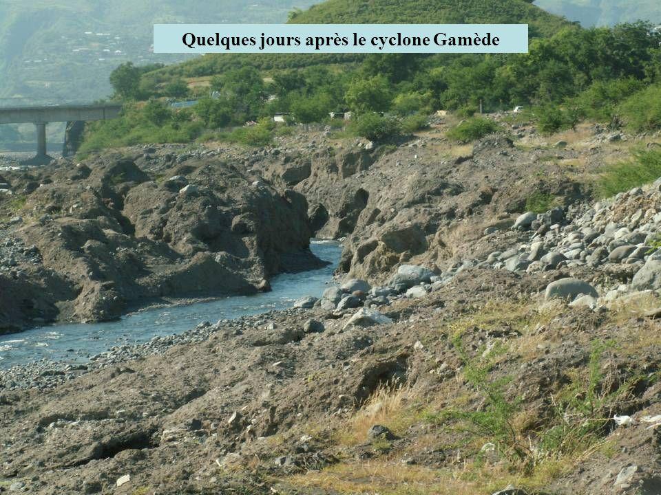 Quelques jours après le cyclone Gamède
