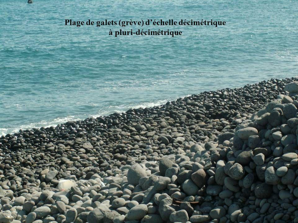 Plage de galets (grève) déchelle décimétrique à pluri-décimétrique