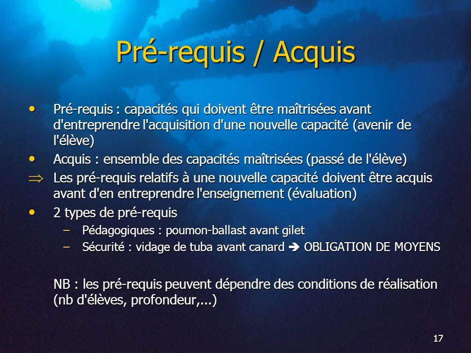 18 Phases d apprentissage Découverte / Initiation Acquisition Perfectionnement NB : formulation des sujets d examen Remédiation