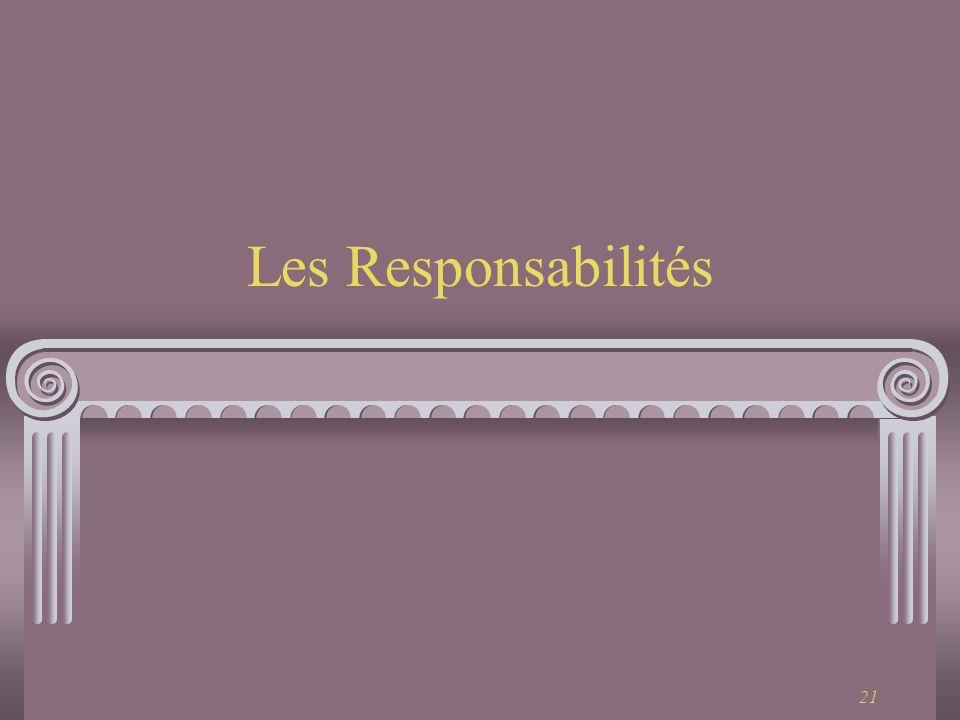 21 Les Responsabilités