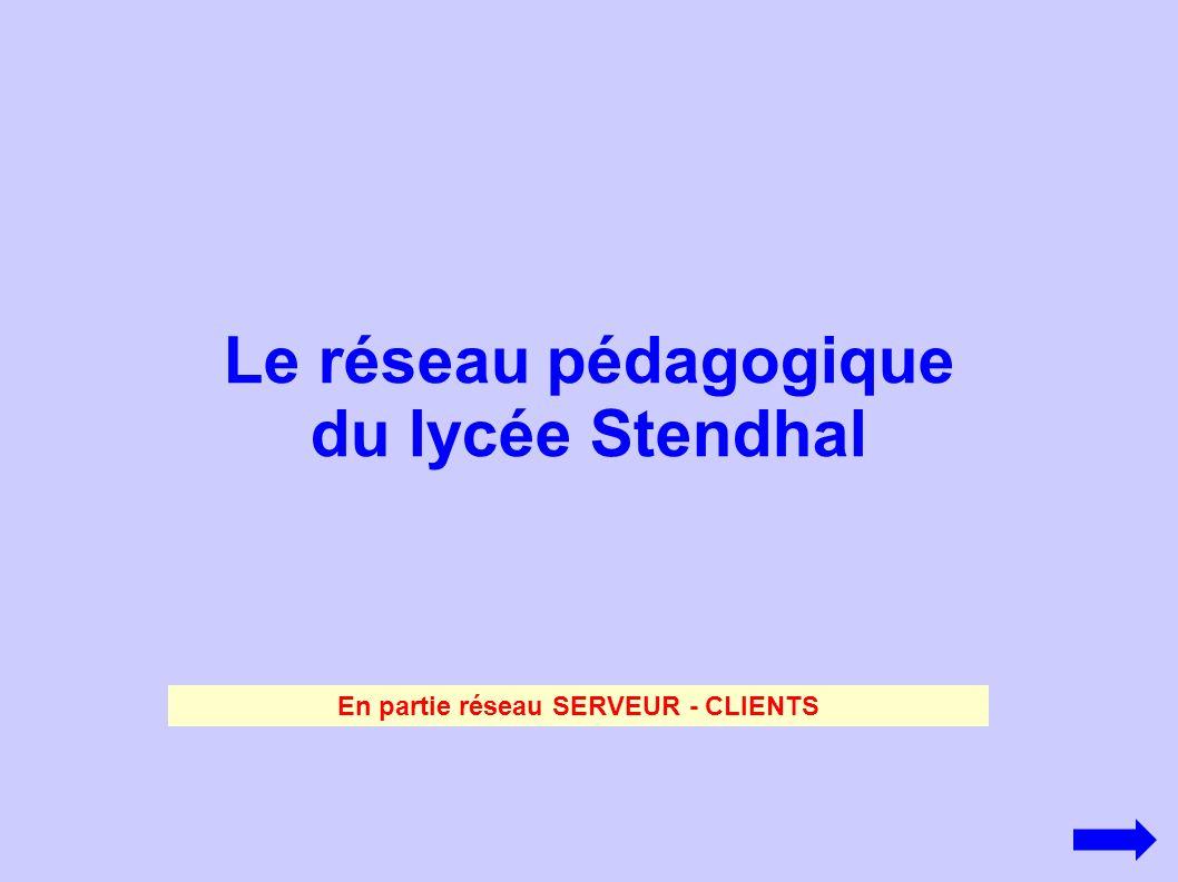 Le réseau pédagogique du lycée Stendhal En partie réseau SERVEUR - CLIENTS