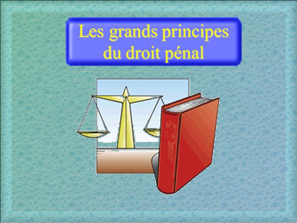 La non-rétroactivité La légalité Les grands principes du droit pénal La liberté du juge