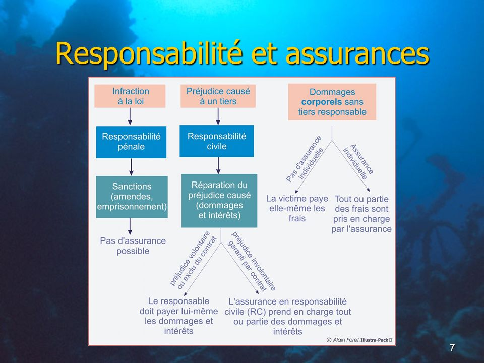 8 Assurances Obligation d assurance en RC (loi 84-610 art.