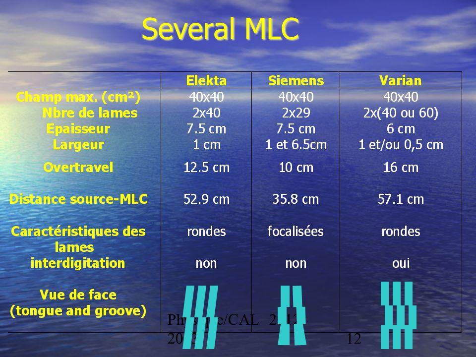 Physique/CAL 2012- 201312 Several MLC