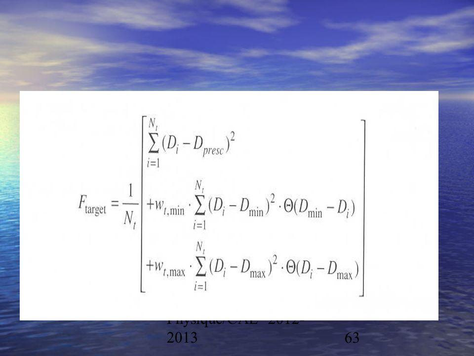 Physique/CAL 2012- 201363