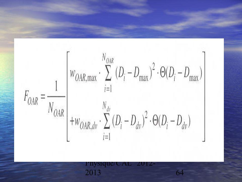 Physique/CAL 2012- 201364