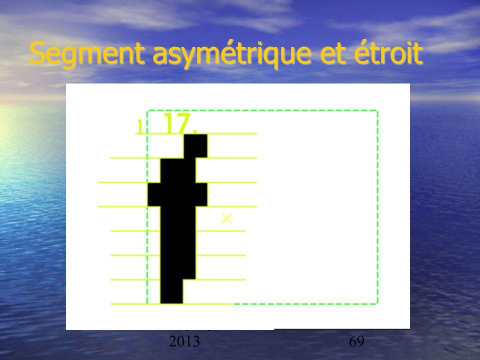Physique/CAL 2012- 201369 Segment asymétrique et étroit