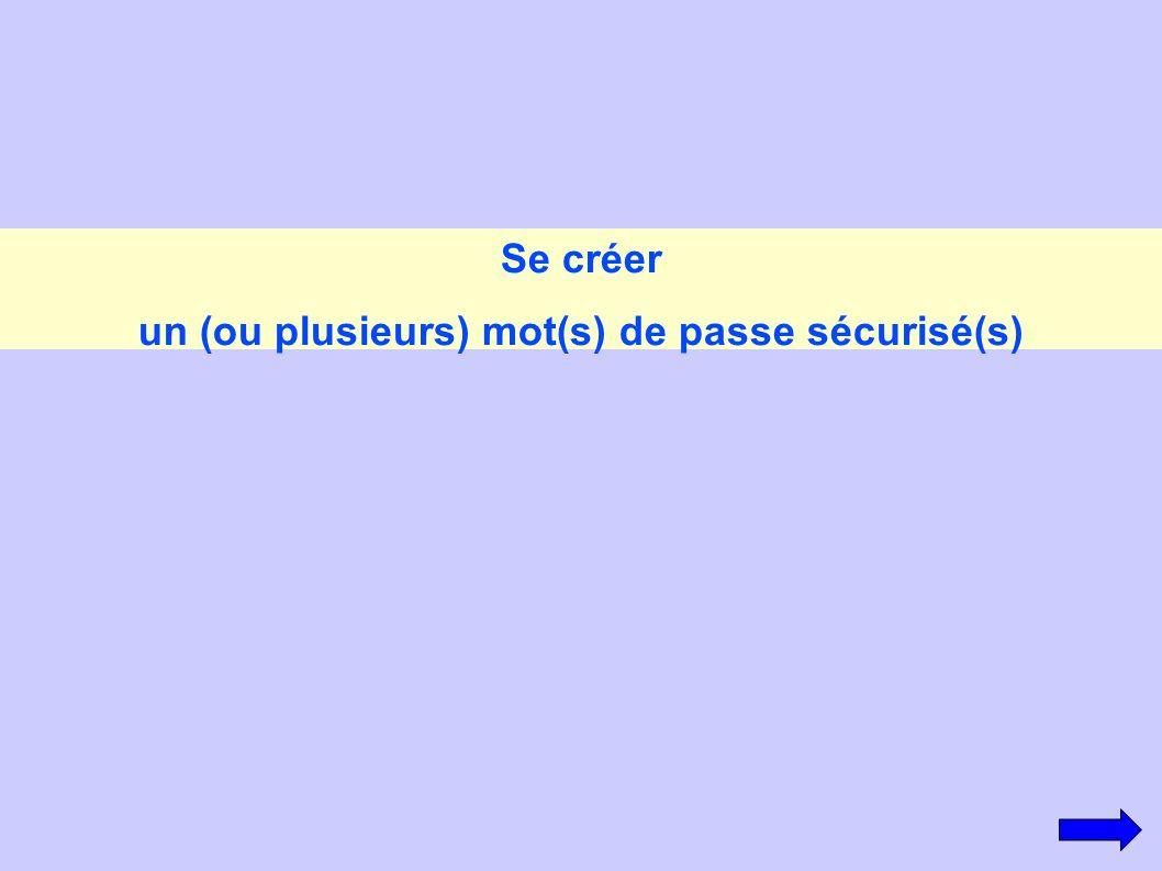 Se créer un (ou plusieurs) mot(s) de passe sécurisé(s)