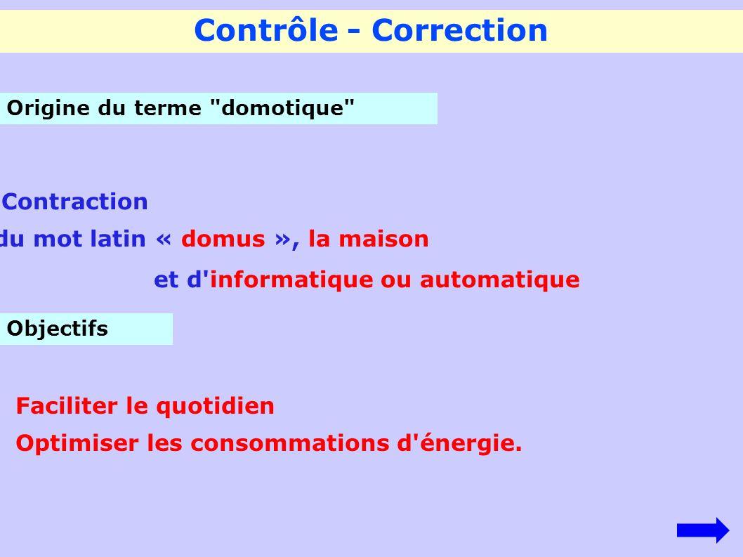 Contrôle - Correction Origine du terme
