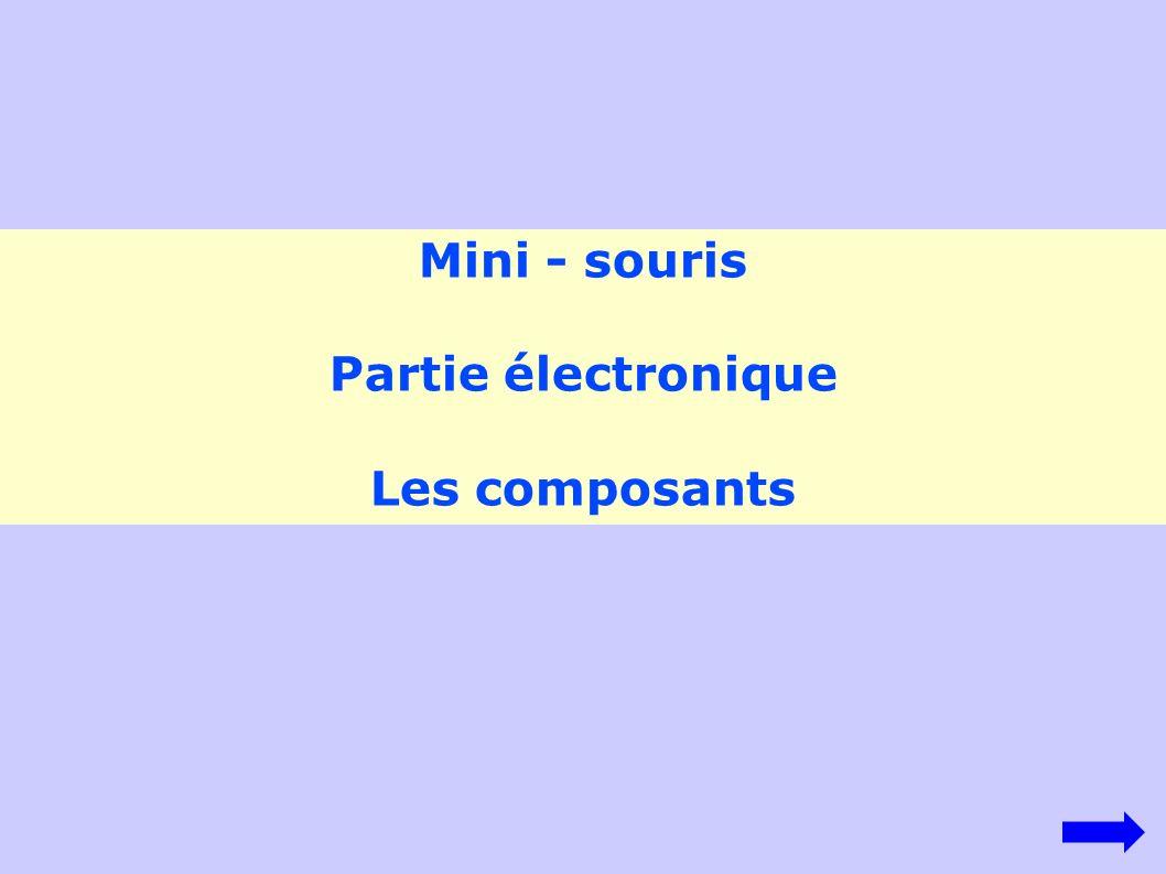 Mini - souris Partie électronique Les composants