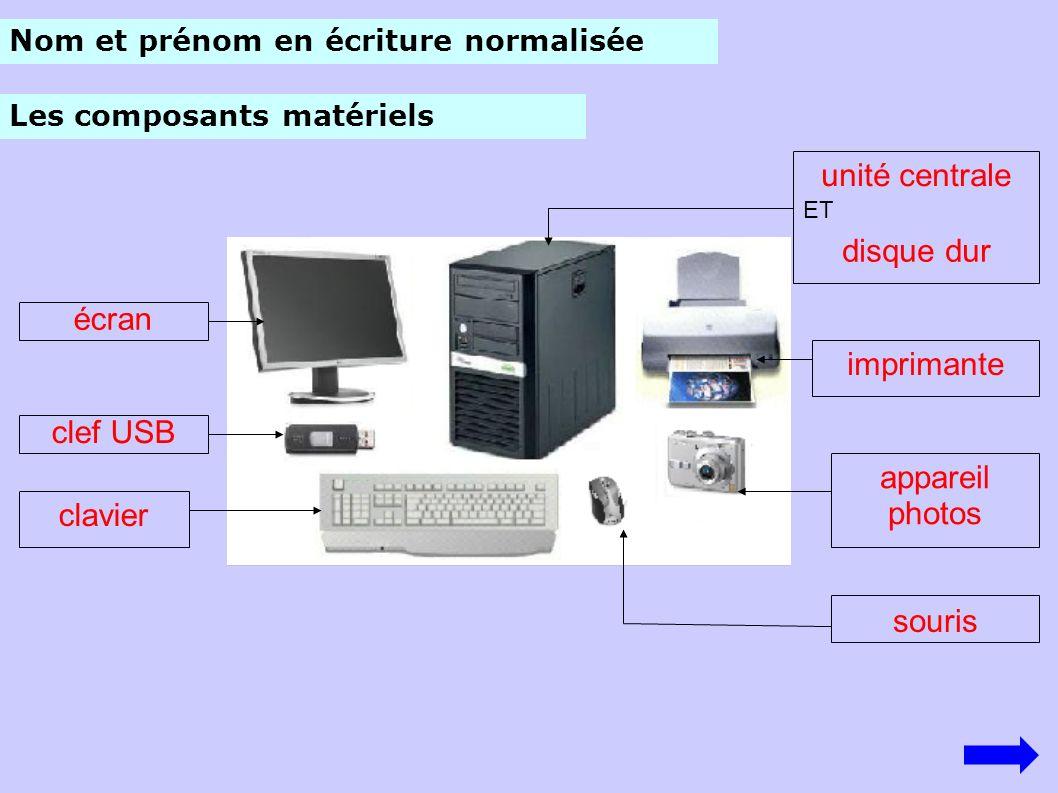 Nom du périphériqueFonction principale le clavier Reproduire sur papier des textes, des dessins la souris Les périphériques Sélectionner avec le pointeur, manipuler des objets à l écran, valider.