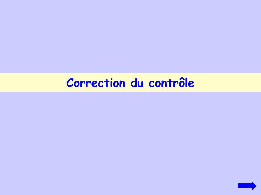 Correction du contrôle