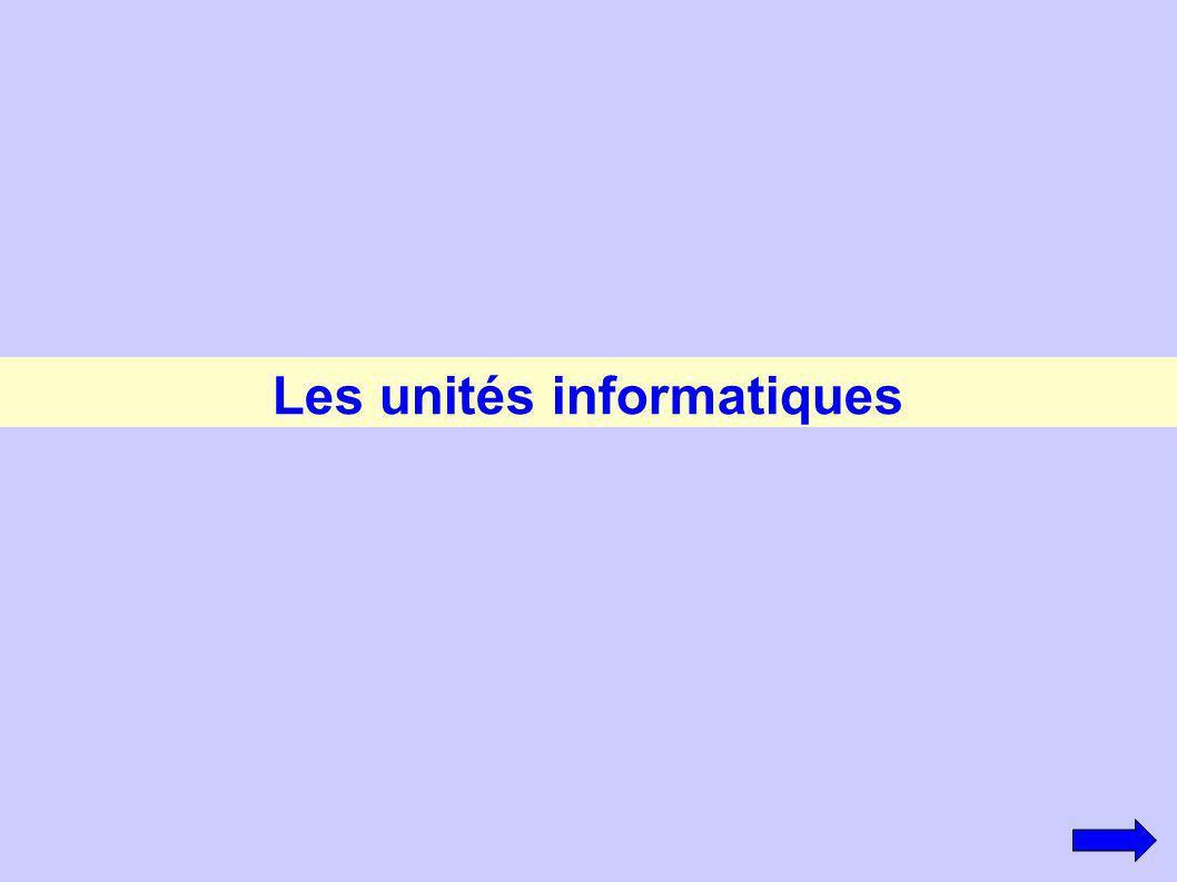 Les unités informatiques