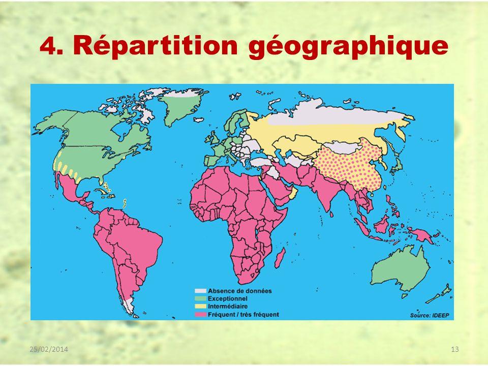 4. Répartition géographique 25/02/201413