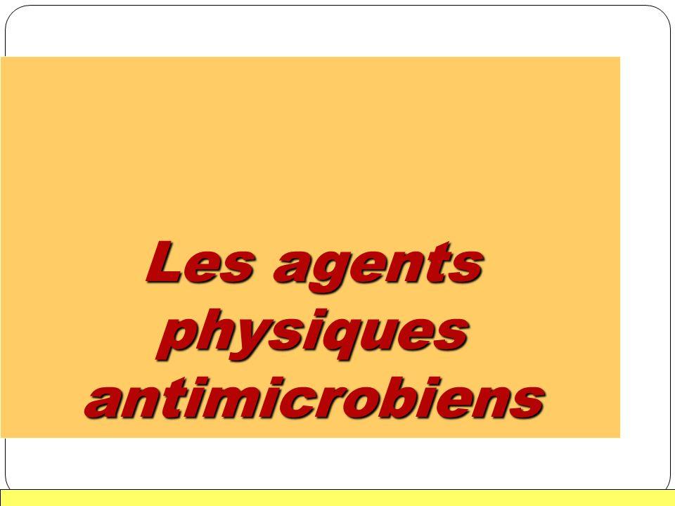 1 Les agents physiques antimicrobiens