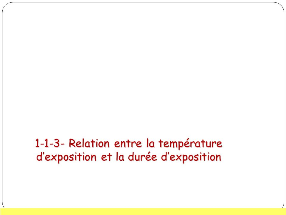 21 1-1-3- Relation entre la température dexposition et la durée dexposition