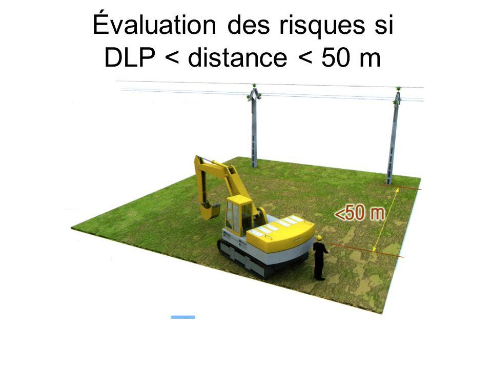 Évaluation des risques si DLP < distance < 50 m