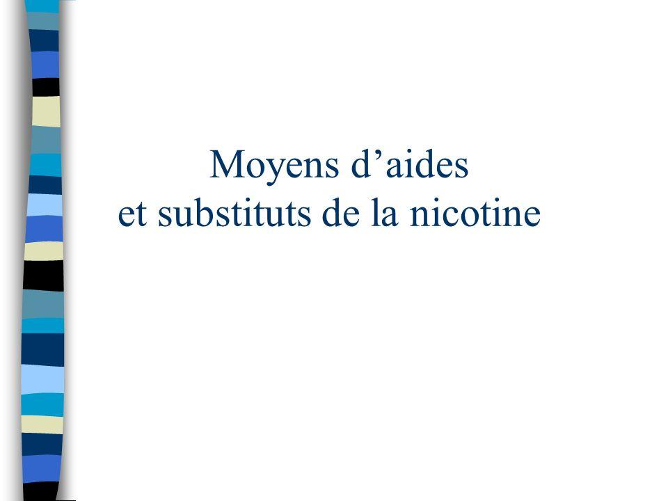 Moyens daides et substituts de la nicotine