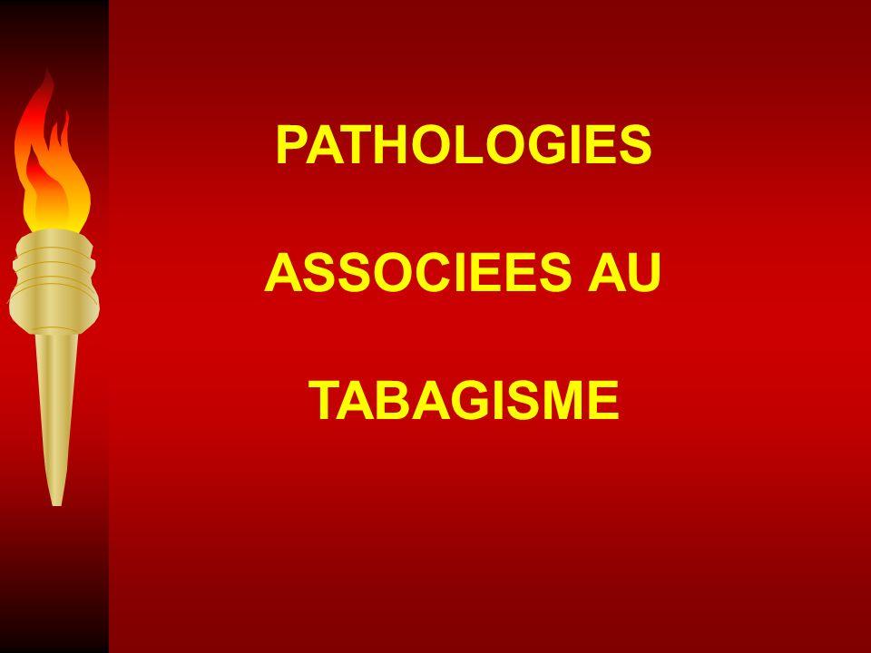 PATHOLOGIES ASSOCIEES AU TABAGISME