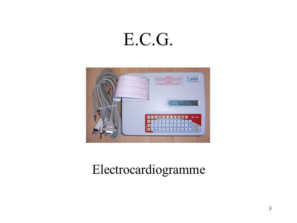 Définition Enregistrement de lactivité électrique du cœur.
