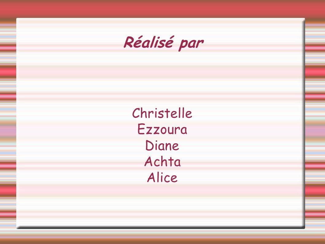 Réalisé par Christelle Ezzoura Diane Achta Alice