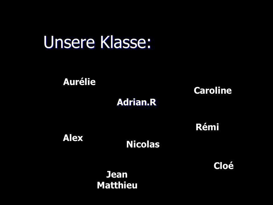 Unsere Klasse: Unsere Klasse:Adrian.R Alex Nicolas Rémi Aurélie Caroline Cloé Jean Matthieu