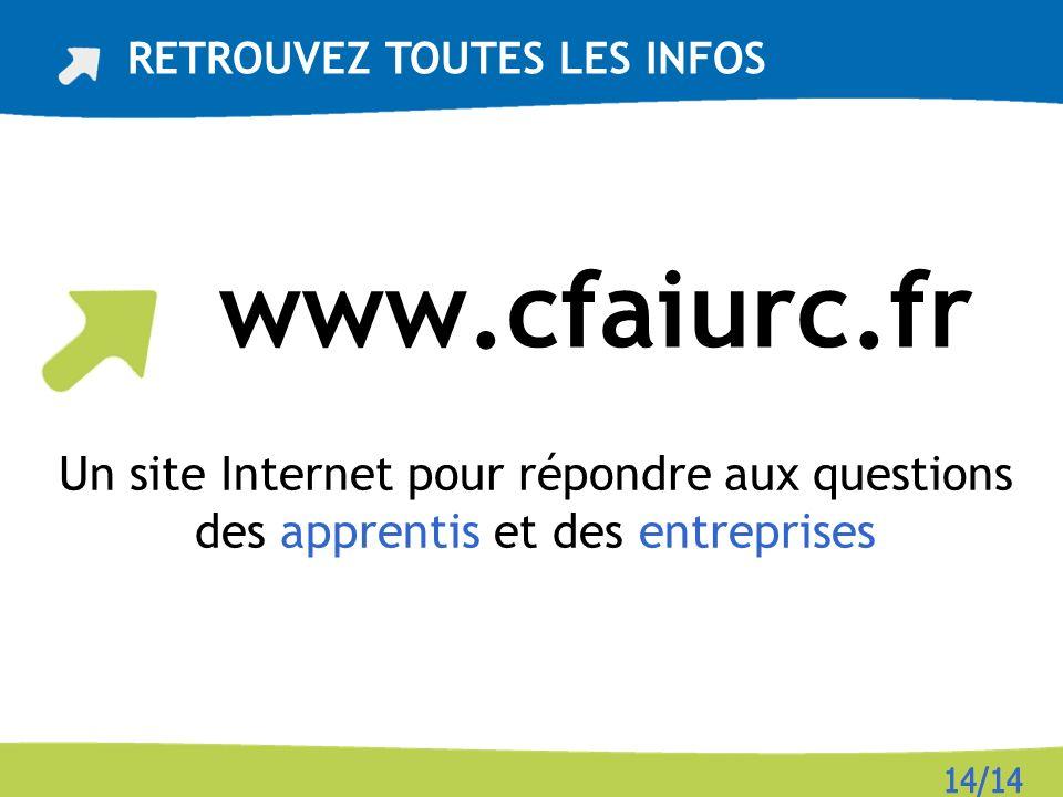 www.cfaiurc.fr RETROUVEZ TOUTES LES INFOS Un site Internet pour répondre aux questions des apprentis et des entreprises