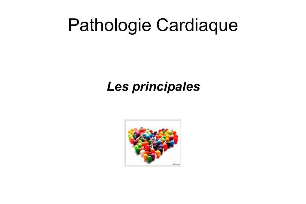 Les principales pathologies Troubles du rythme Maladies coronaires Insuffisance Cardiaque Embolie Pulmonaire Maladie des valves