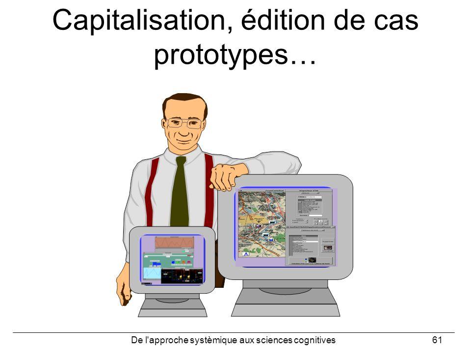 De l'approche systèmique aux sciences cognitives61 Capitalisation, édition de cas prototypes…