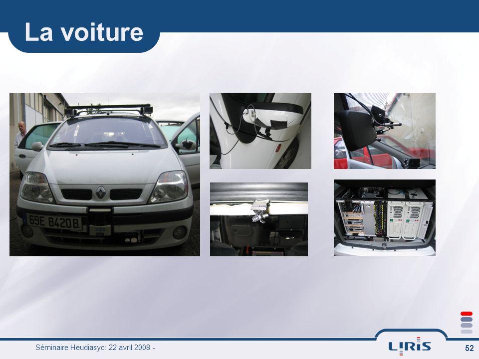 Séminaire Heudiasyc: 22 avril 2008 - 52 La voiture