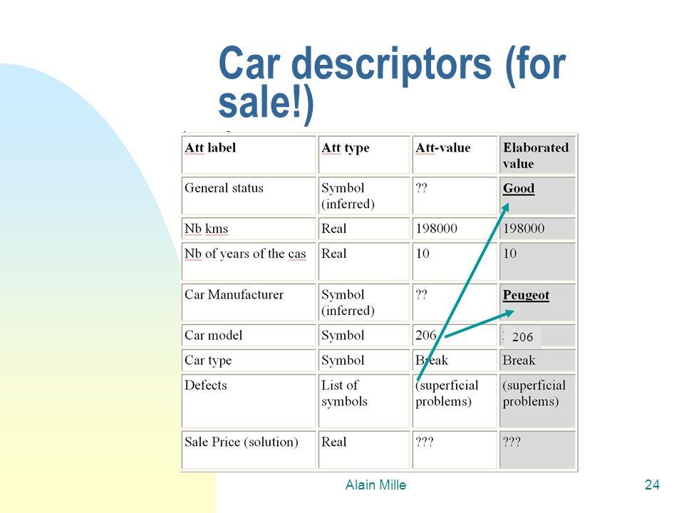 Alain Mille24 Car descriptors (for sale!) 206