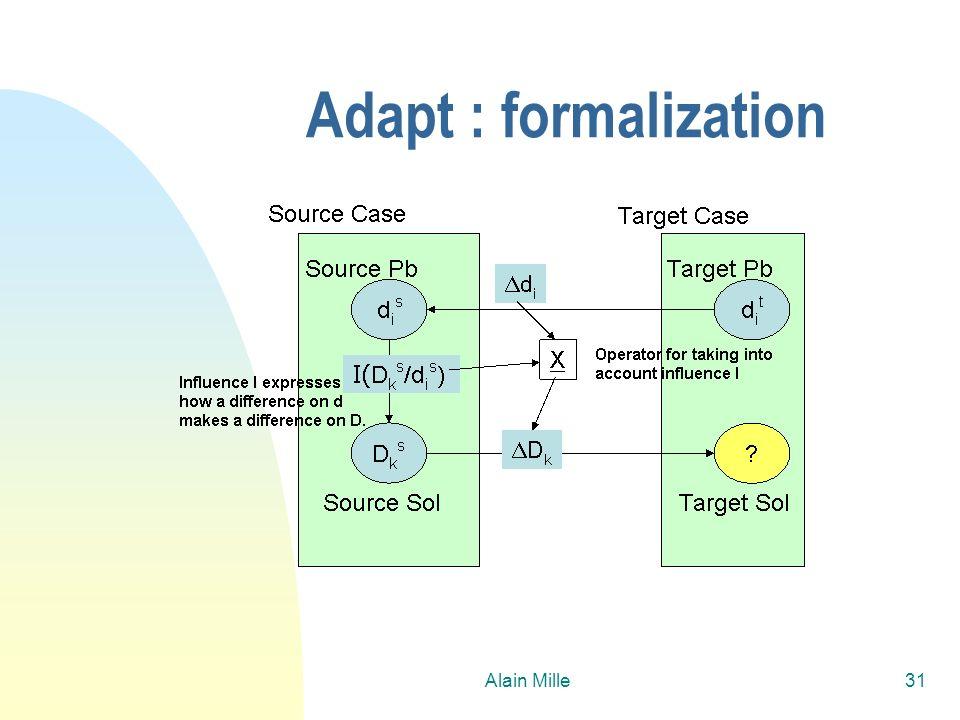 Alain Mille31 Adapt : formalization