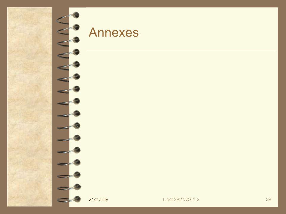 21st JulyCost 282 WG 1-238 Annexes