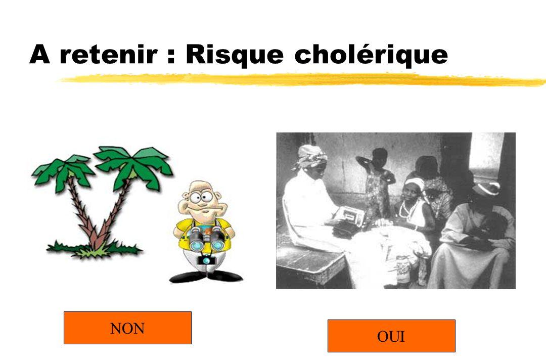 A retenir : Risque cholérique OUI NON