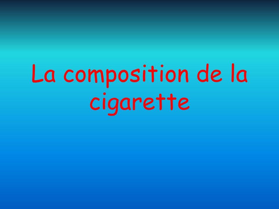 La composition de la cigarette