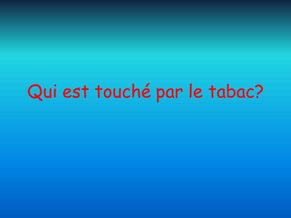 Qui est touché par le tabac?
