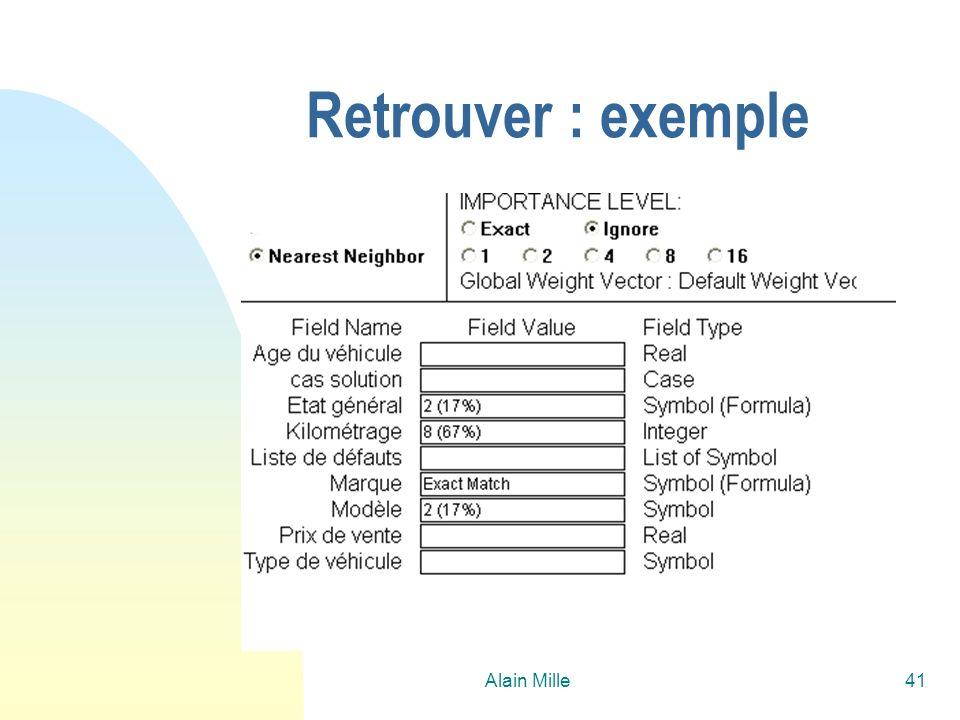 Alain Mille41 Retrouver : exemple