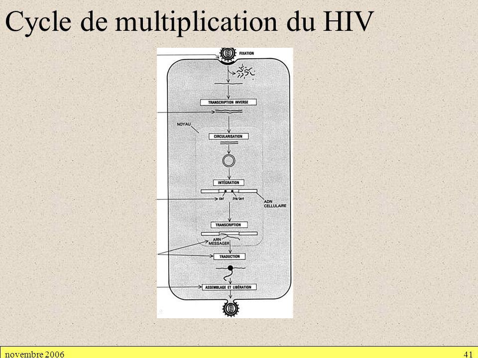 Cycle de multiplication du HIV novembre 200641