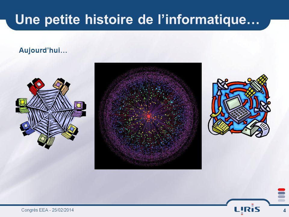 Congrès EEA - 25/02/2014 4 Une petite histoire de linformatique… Aujourdhui…
